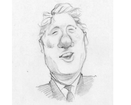 Joe Mathieu Caricature Bill Clinton