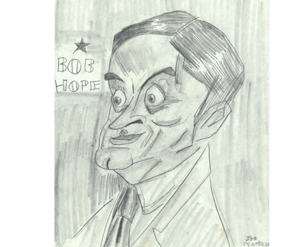 Joe Mathieu Caricatures Bob Hope