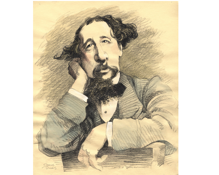 Joe Mathieu Caricature Charles Dickens