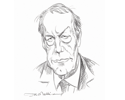 Joe Mathieu Caricature Charlie Rose