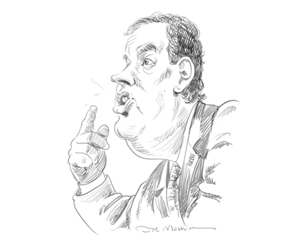Joe Mathieu Caricature Chris Christie