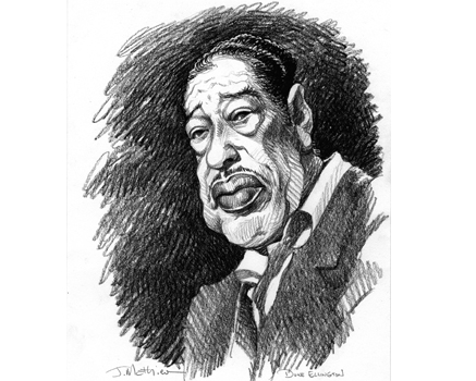 Joe Mathieu Caricature Duke Ellington