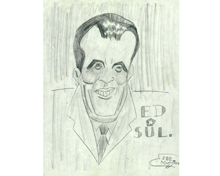 Joe Mathieu Caricatures Ed Sullivan