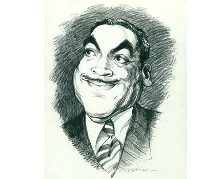 Joe Mathieu Caricatures Fats Waller