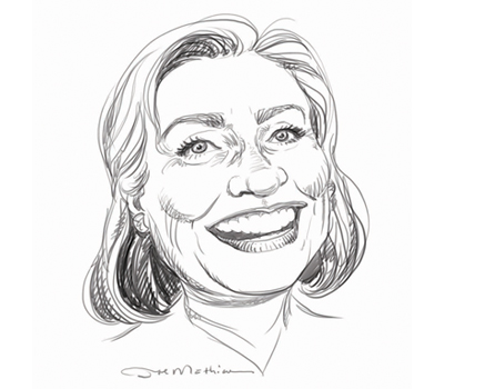 Joe Mathieu Caricature Hillary Clinton
