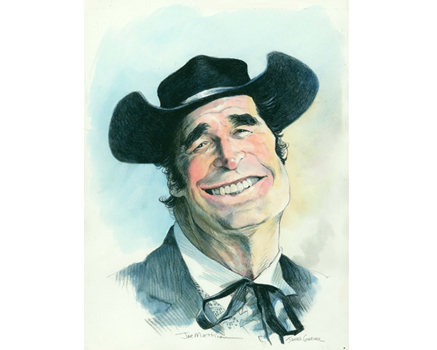 Joe Mathieu Caricature James Garner