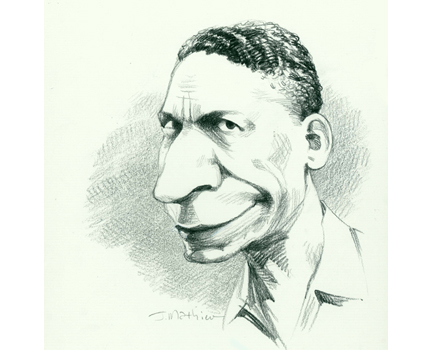Joe Mathieu Caricature Jellyroll Morton