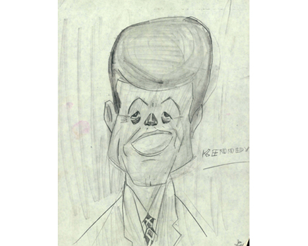 Joe Mathieu Caricatures John F Kennedy