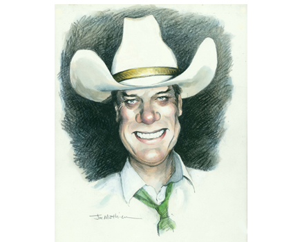 Joe Mathieu Caricature Larry Hagman