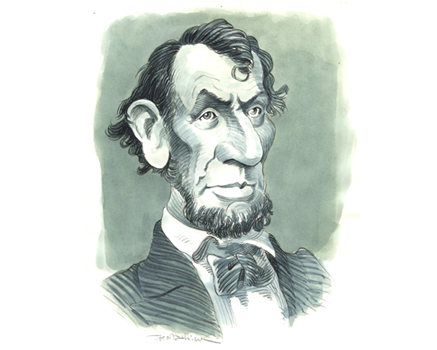 Joe Mathieu Caricature Abraham Lincoln