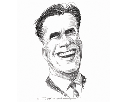 Joe Mathieu Caricature Mitt Romney