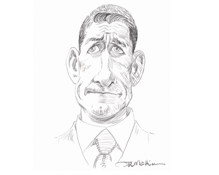 Joe Mathieu Caricature Paul Ryan