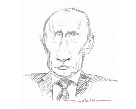 Joe Mathieu Caricature Vladimir Putin