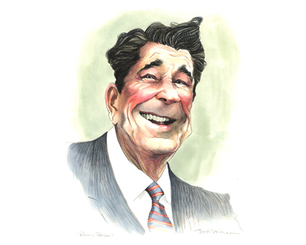 Joe Mathieu Caricature Ronald Reagan