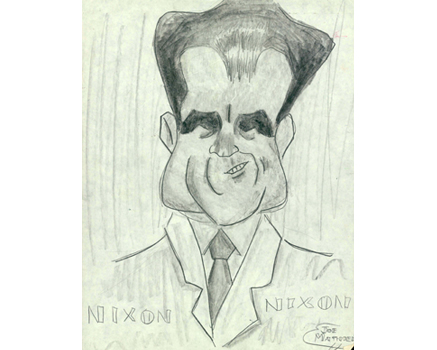 Joe Mathieu Caricatures Richard Nixon