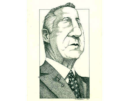 Joe Mathieu Caricatures Spiro Agnew