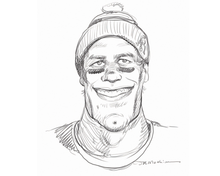 Joe Mathieu Caricature Tom Brady