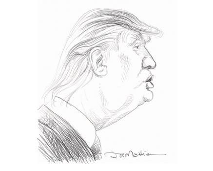 Joe Mathieu Caricature Donald Trump