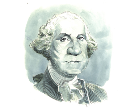 Joe Mathieu Caricature George Washington