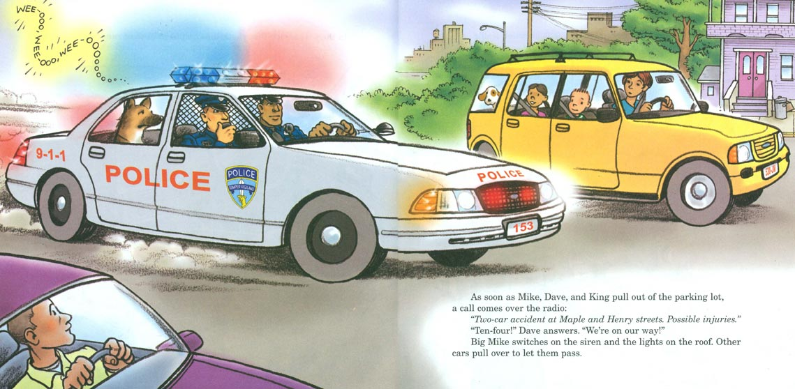 Big Mike's Police Car pages 6-7