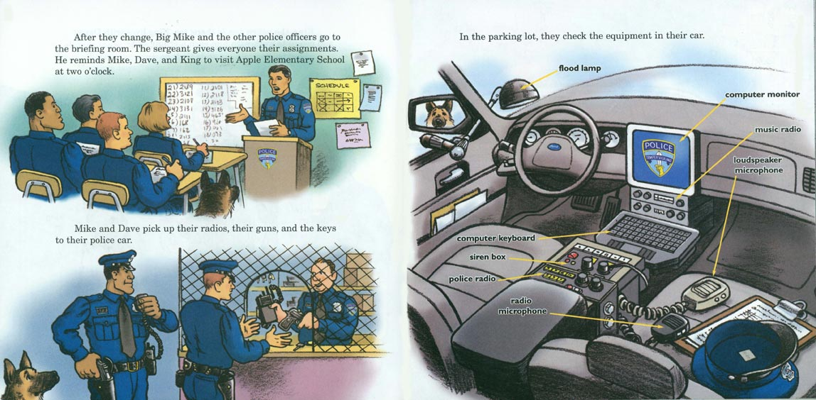 Big Mike's Police Car pages 8-9