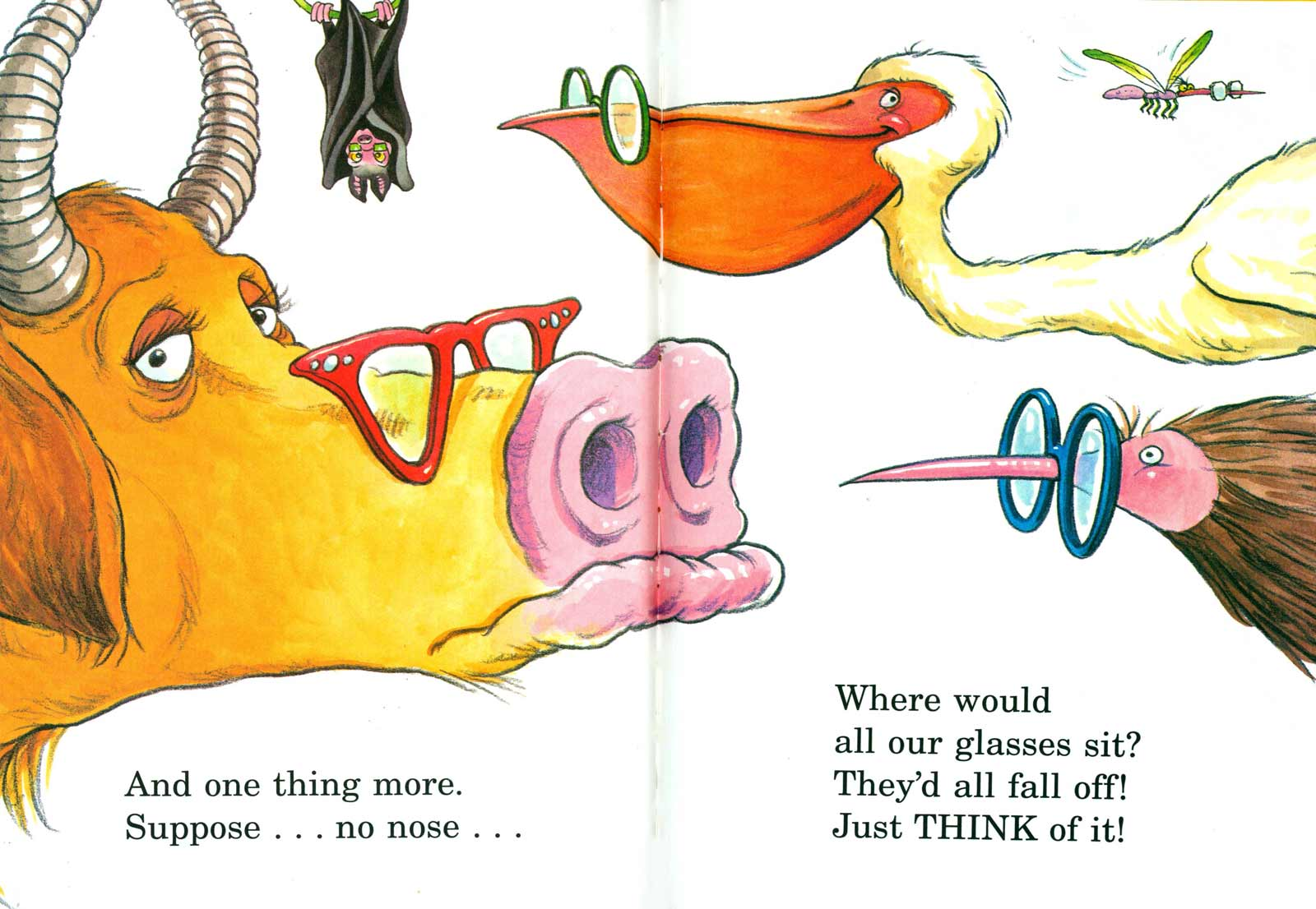 Doctor Seuss The Nose Book Spread One