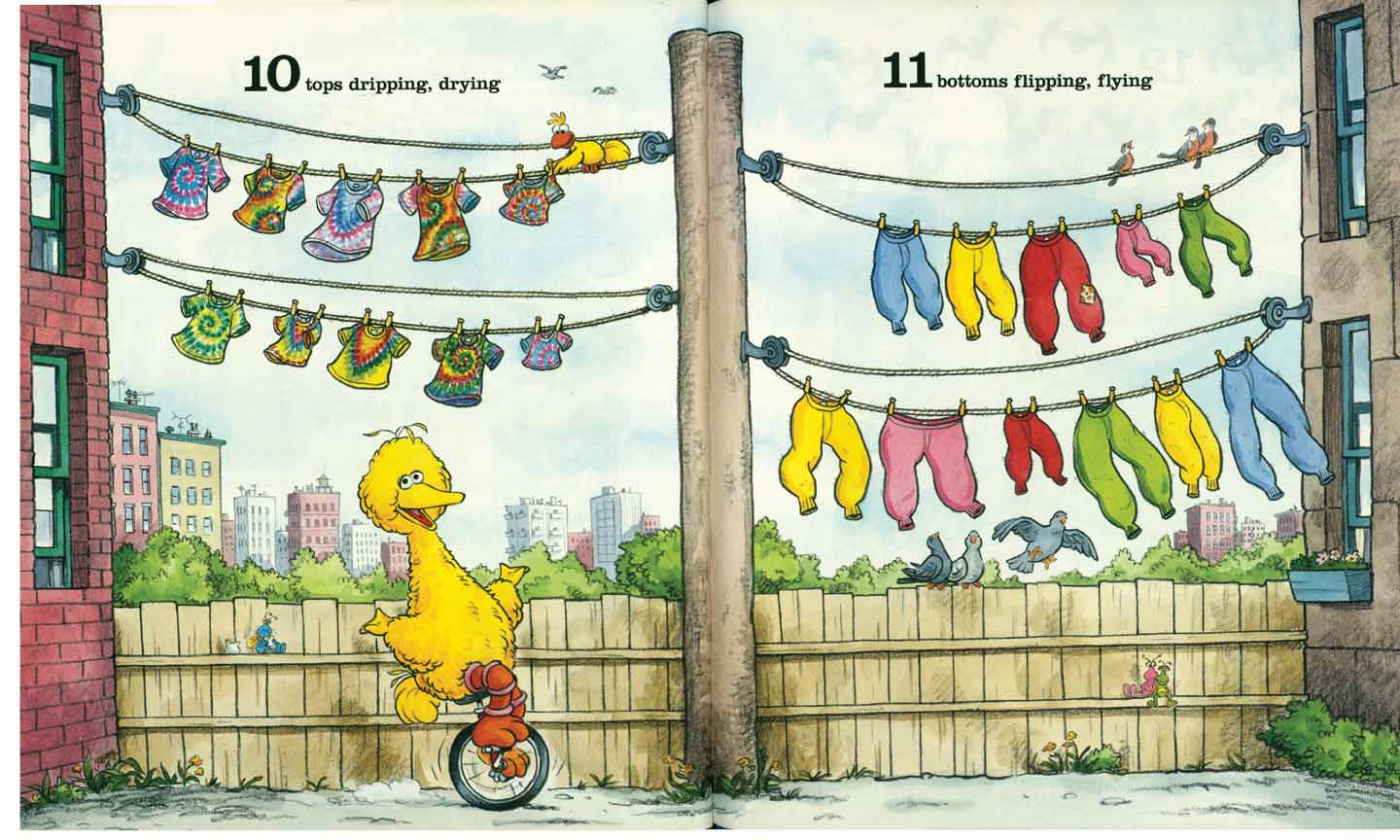 Sesame Street 123 pages 10-11