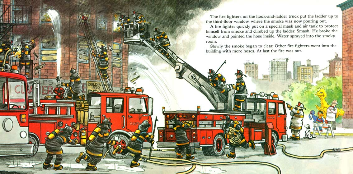 A Visit to the Sesame Street Firehouse pages 10-11
