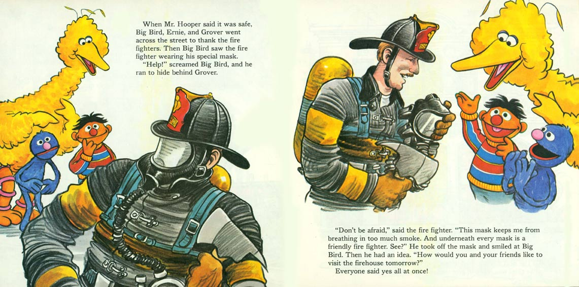 A Visit to the Sesame Street Firehouse pages 12-13