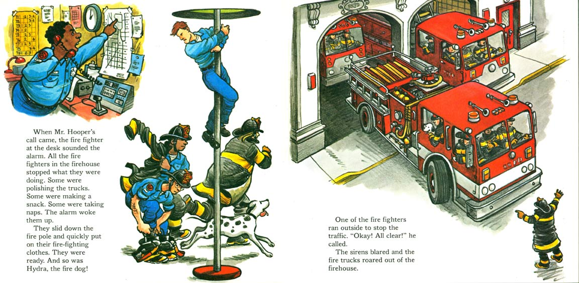 A Visit to the Sesame Street Firehouse pages 6-7