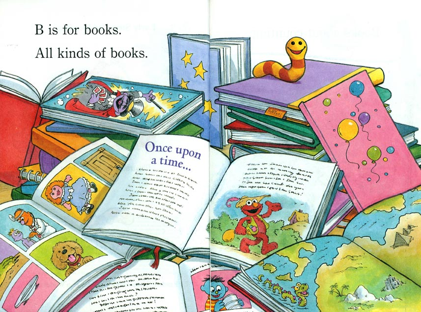 B is for Books pages 4-5