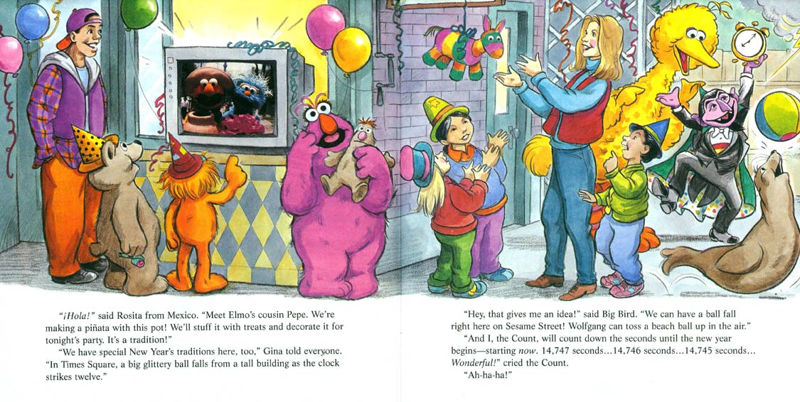 Sesame Street Stays Up Late! pages 6-7