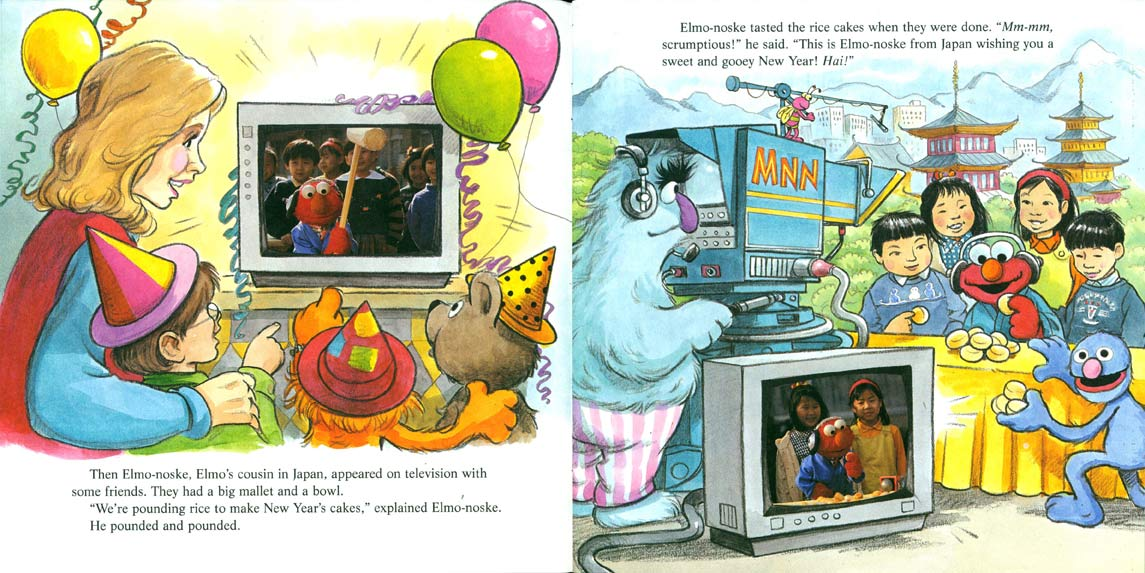 Sesame Street Stays Up Late! pages 8-9