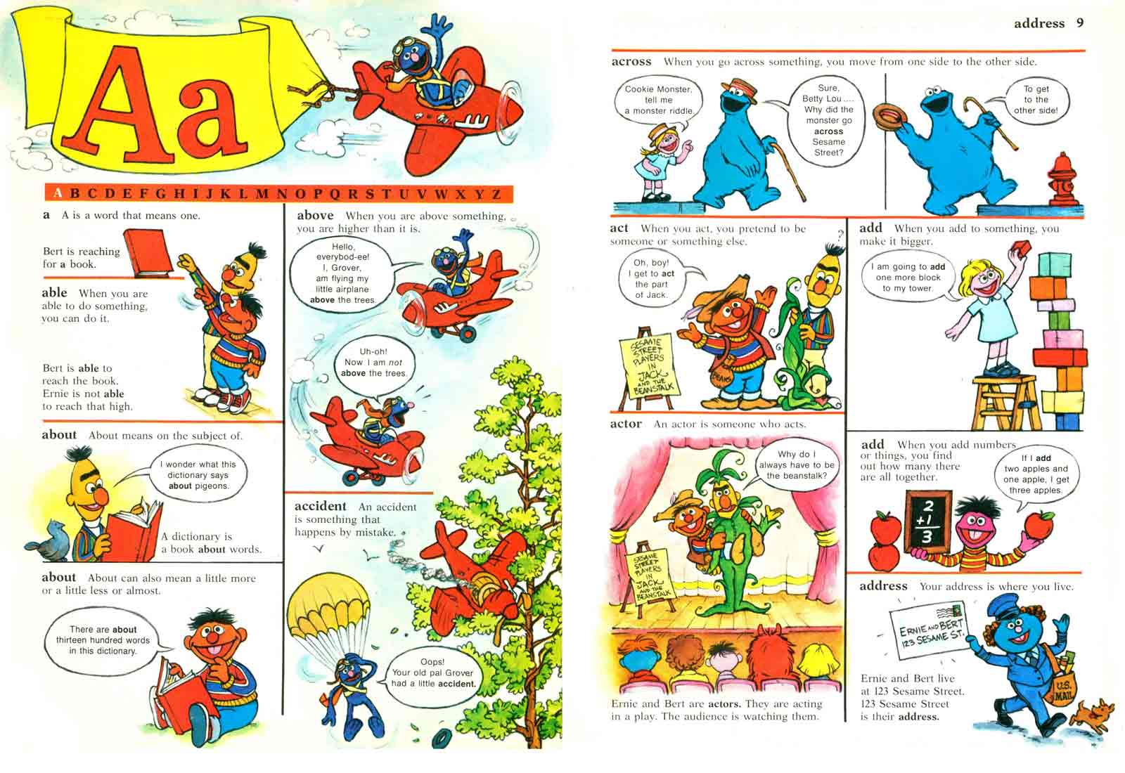 Sesame Street Dictionary pages 8-9