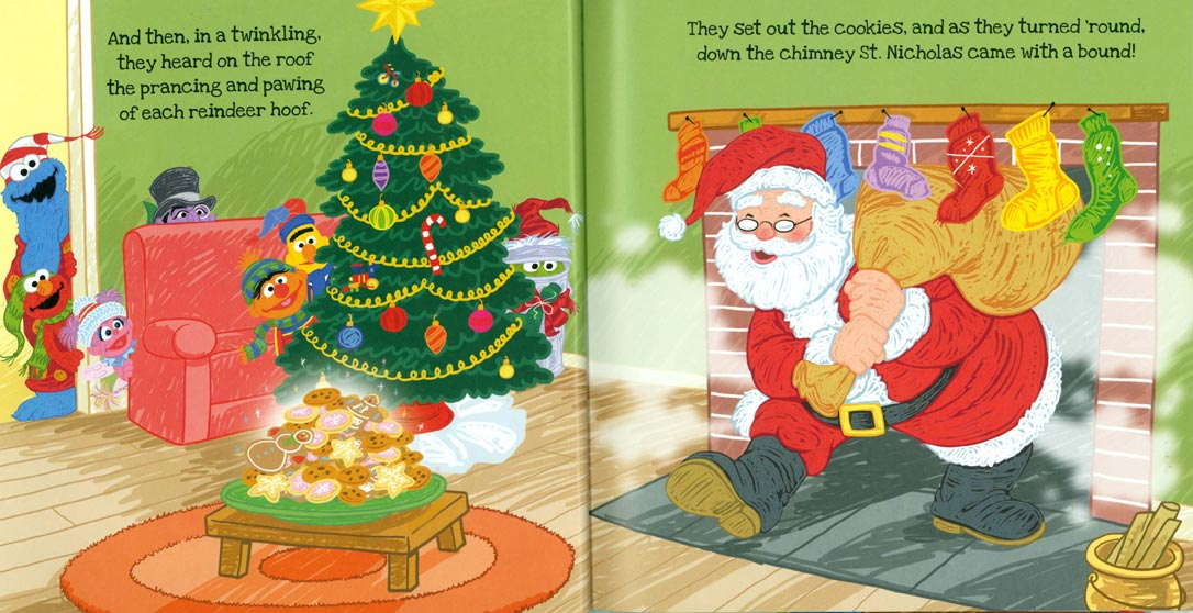 Twas the Night Before Christmas on Sesame Street pages 20-21