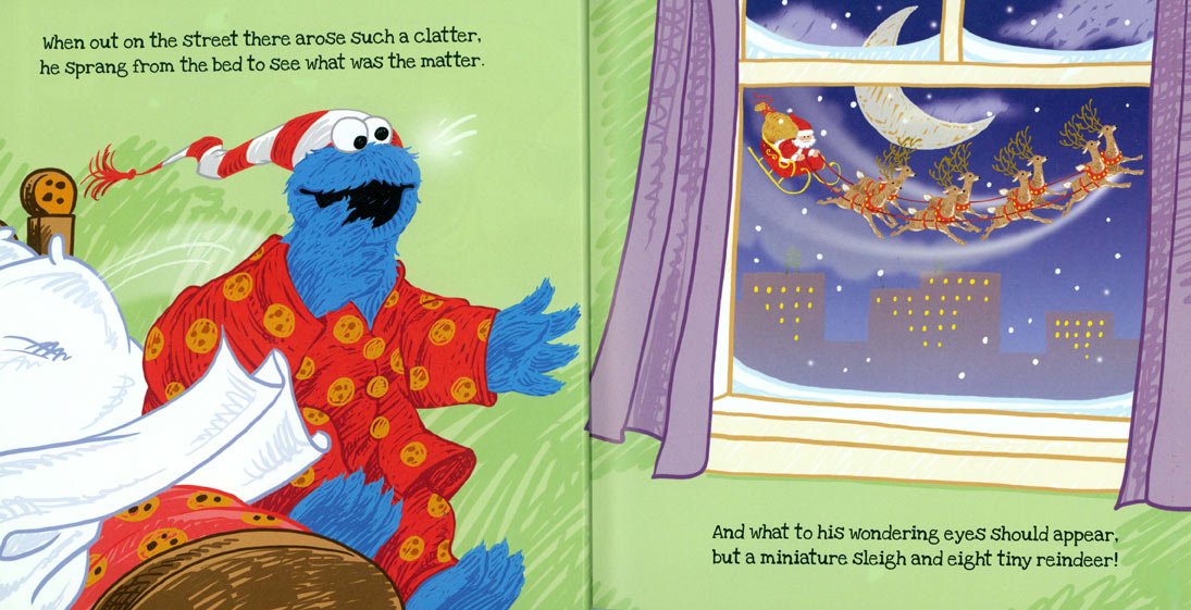 Twas the Night Before Christmas on Sesame Street pages 6-7