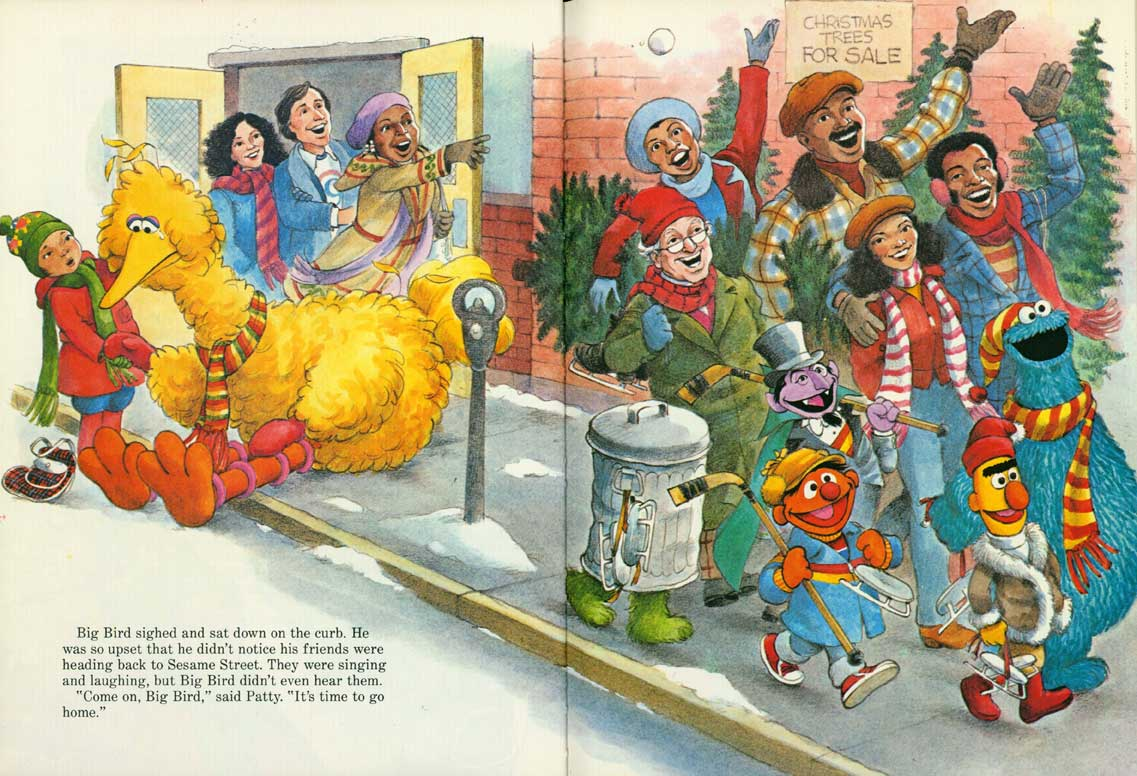 Christmas Eve On Sesame Street pages 12-13