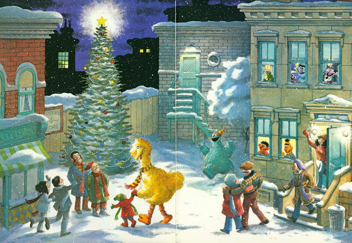 Christmas Eve On Sesame Street pages 56-57