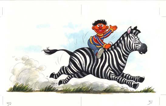 Ernie and Zebra