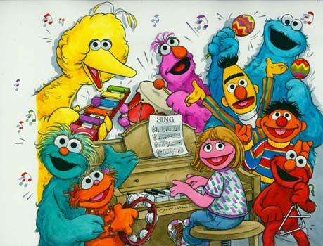 Joe Mathieu Art for Sale Sesame Street Sing  Along with Sesame Street