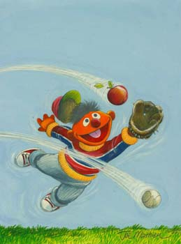Ernie Plays Baseball