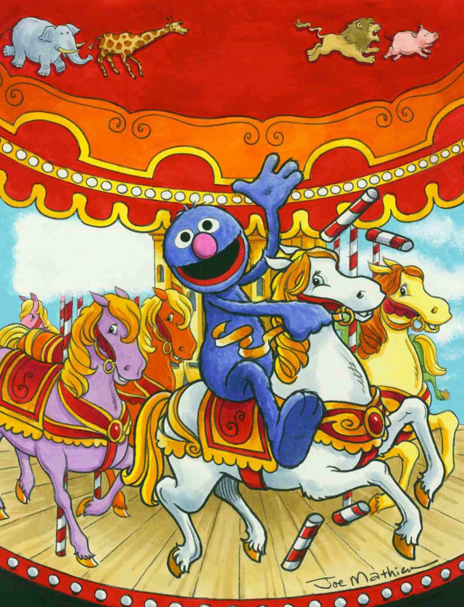 Grover on a Carousel
