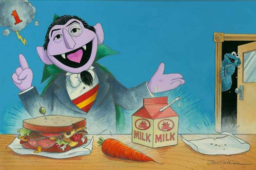Count Von Count Lunchtime Sesame Street
