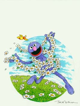 Grover with Flowers
